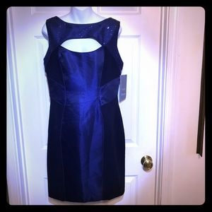 Theia sheaf cocktail dress with front keyhole NWT